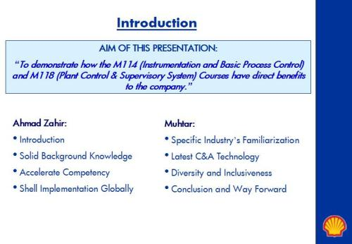 Aim of Presentation