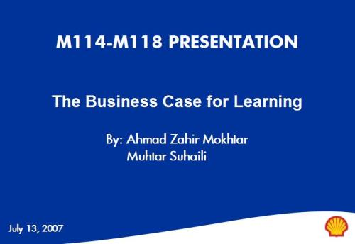Business Case for Learning