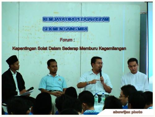 Forum Solat SM Sains Miri