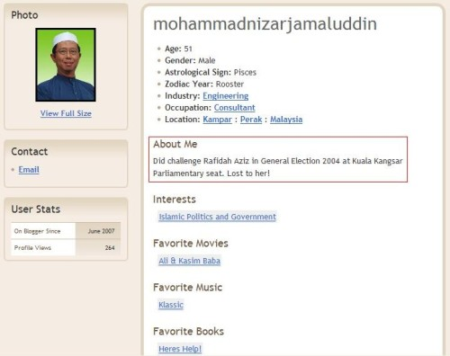 Profil Mohammad Nizar Jamaluddin