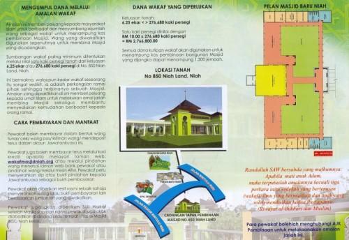 Wakaf Masjid Baru Niah