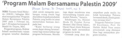 Hebahan Malam Bersamamu Palestin - Utusan Borneo