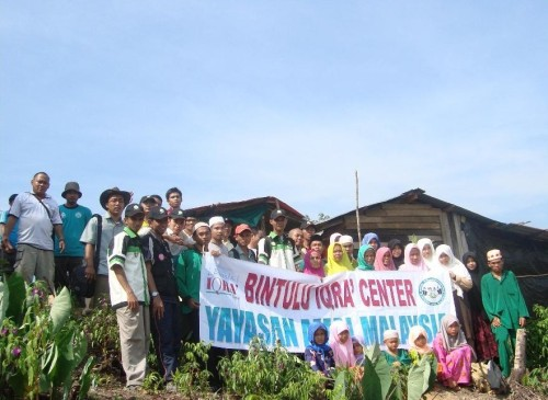 Sukarelawan AMAL dan Du'at HIKMAH Mengabadikan Gambar Kenangan Bersama Saudara Kita di Ulu Kota, Pakan, Sarikei