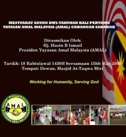 Poster Mesyuarat Agung AMAL Sarawak