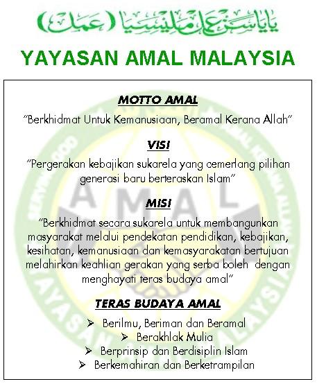 Visi dan Misi AMAL Malaysia
