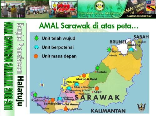 AMAL Sarawak di atas peta..