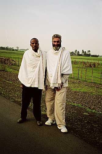 Jean dan kenalannya Fikadu di Ethiopia - 2005