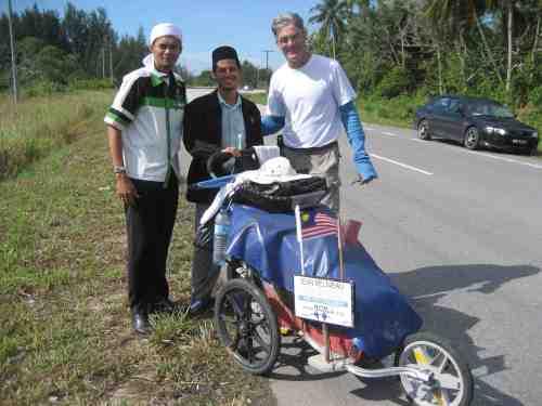 With Jean Beliveau in Miri, Sarawak