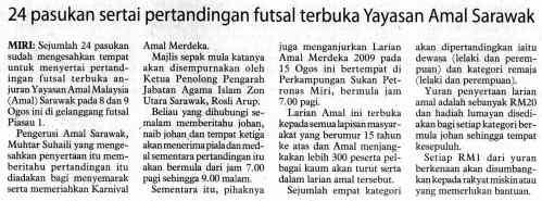 24 Pasukan Sertai Futsal AMAL Merdeka