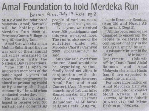 Akhbar Borneo Post, 17 July 2009