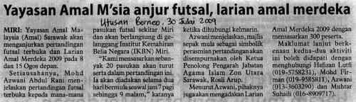 Keratan Akhbar Futsal dan Larian AMAL
