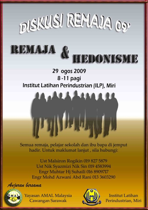 Poster Diskusi Remaja AMAL