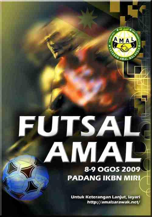 Poster Futsal AMAL Merdeka 2009