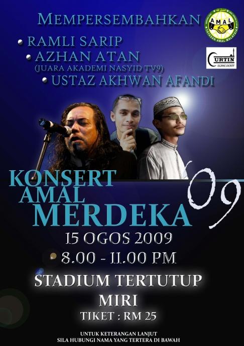 Poster Konsert AMAL Merdeka 2009