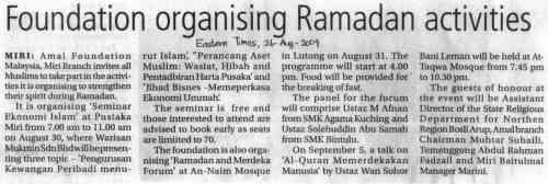 Foundation Organizing Ramadhan Activities