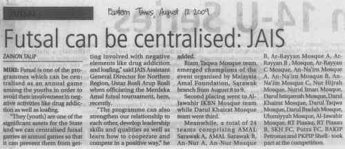 Laporan Futsal AMAL Merdeka @ Eastern Times, 12 Ogos 2009
