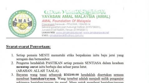 Syarat-syarat Penyertaan Futsal AMAL Merdeka
