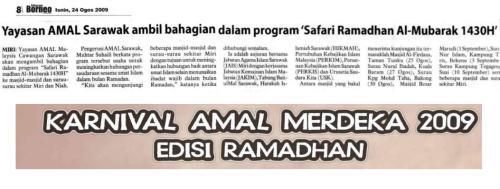 "Yayasan AMAL Sarawak sertai program ""Safari Ramadhan Al-Mubarak 1430H"""