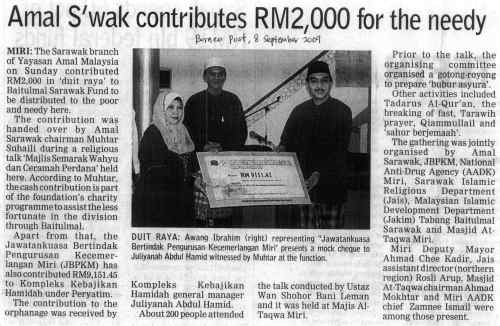 Laporan Program Semarak Wahyu @ Borneo Post, 8 September 2009