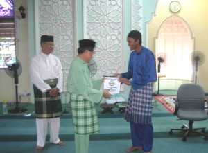 Cenderahati AMAL kepada Masjid An-Naim