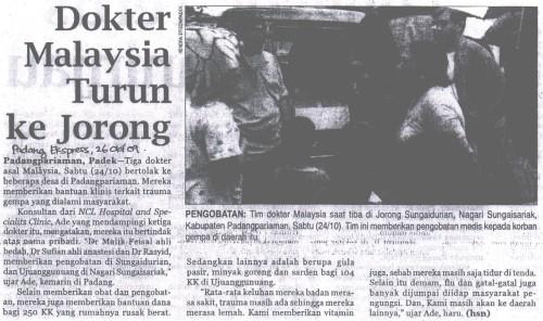 Dokter Malaysia Turun Ke Jorong
