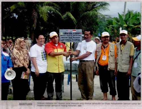 Majlis Penyerahan Sumur Bor (Water Tube Well) Daripada Yayasan AMAL Malaysia Kepada Wali Nagari (Penghulu) Lubuk Pandan