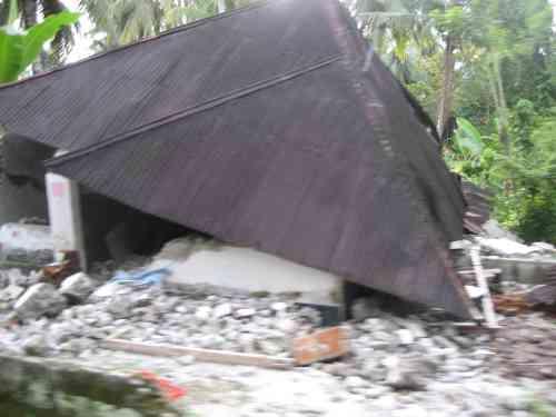 Rumah Rosak Total di Padang Pariaman